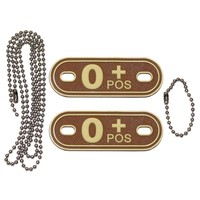 Jackets to Go AB-Positive Blood Type PVC Dogtag Desert