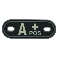 Jackets to Go A-Positive Blood Type PVC Dogtag Glow in the Dark