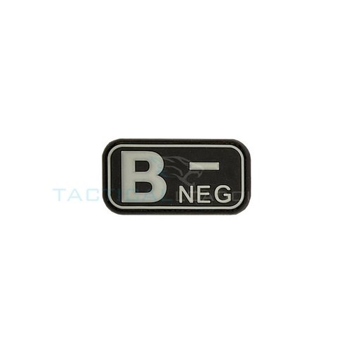 Jackets to Go B-Negative Blood Type PVC Patch Glow in the Dark