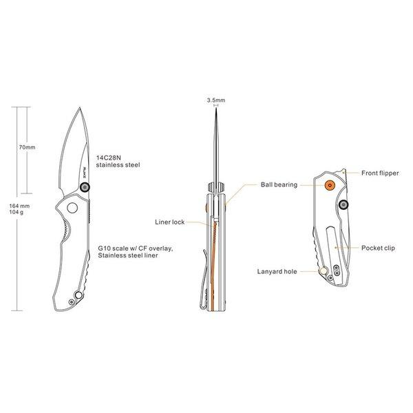 Ruike Knives P671-CB Zakmes