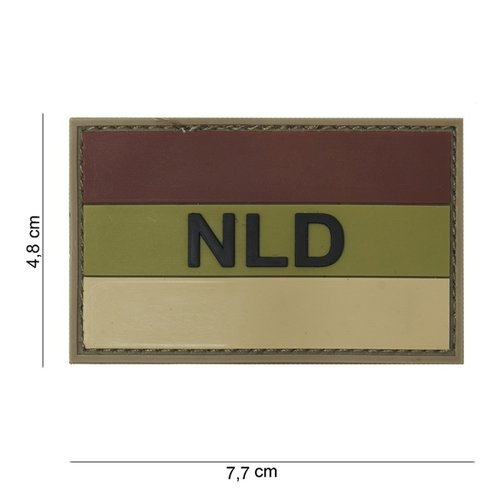 Nederlandse NLD / NED Vlag PVC Patch Multicam