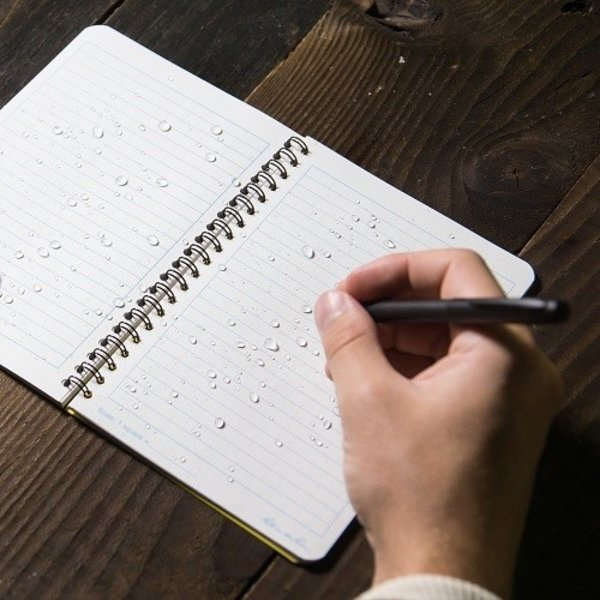 """Rite in the Rain Zij-Spiraal Notebook 4.5/8x7"""" Yellow"""