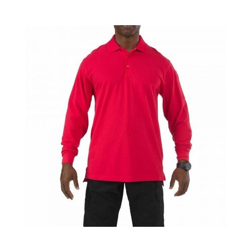 5.11 Tactical Professional Polo Long Sleeve Range Red