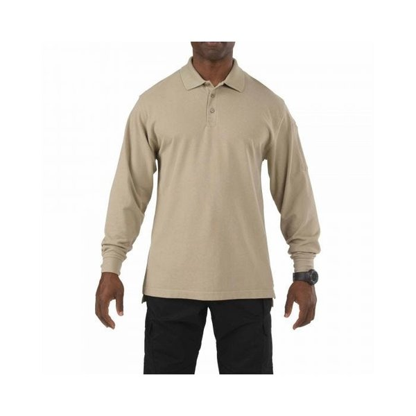 5.11 Tactical Professional Polo Long Sleeve Silver Tan