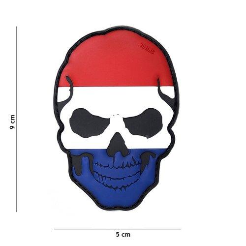 Nederlandse (NLD) Vlag Skull PVC Patch