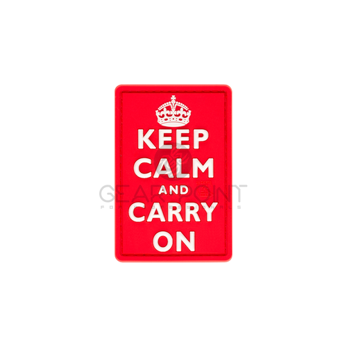 Jackets to Go Keep Calm PVC Patch Red