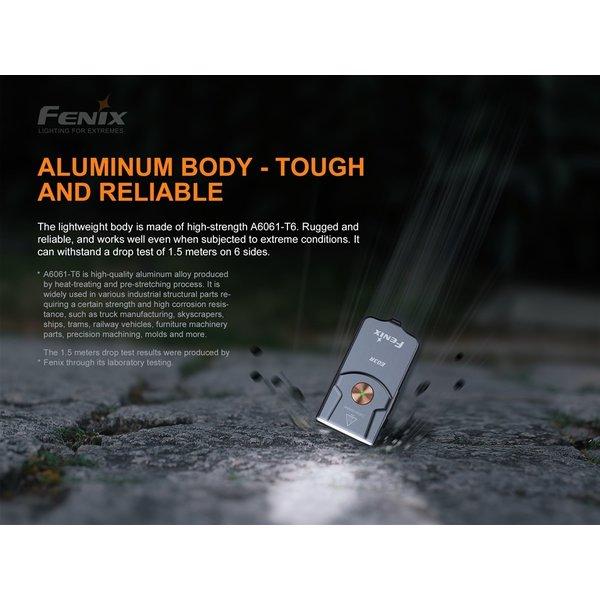 Fenix E03R Mini Zaklamp (260 lumen) incl. Accu