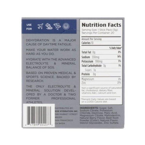 SOS Hydration Sportdrank Box 20 Porties Citrus