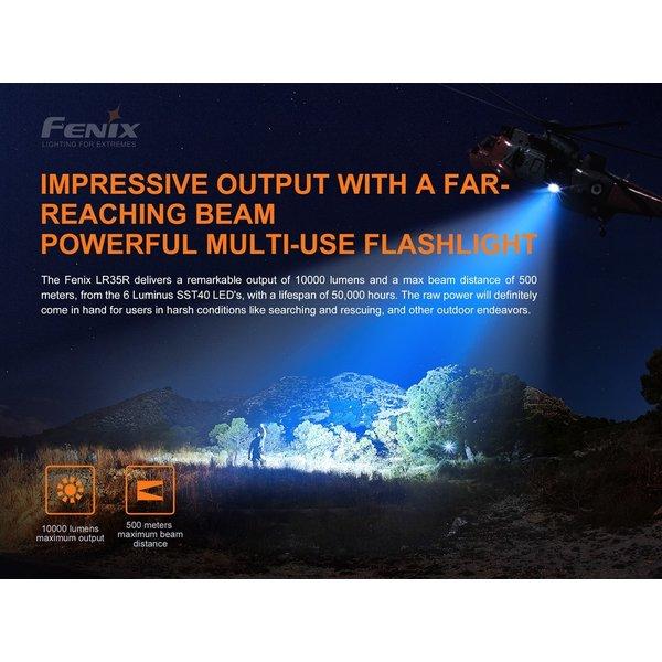 Fenix LR35R Zaklamp (10.000 lumen) incl Accu's