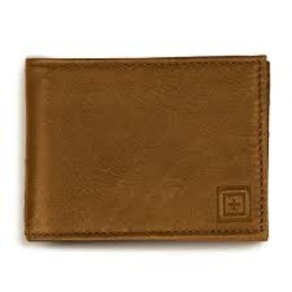5.11 Tactical MERU Bifold Wallet Brown Leather