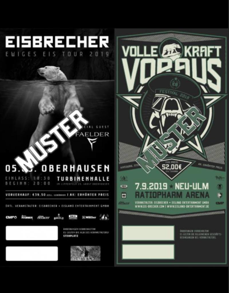 COMBITICKET EWIGES EIS TOUR 2019 OBERHAUSEN + VKV FESTIVAL 2019