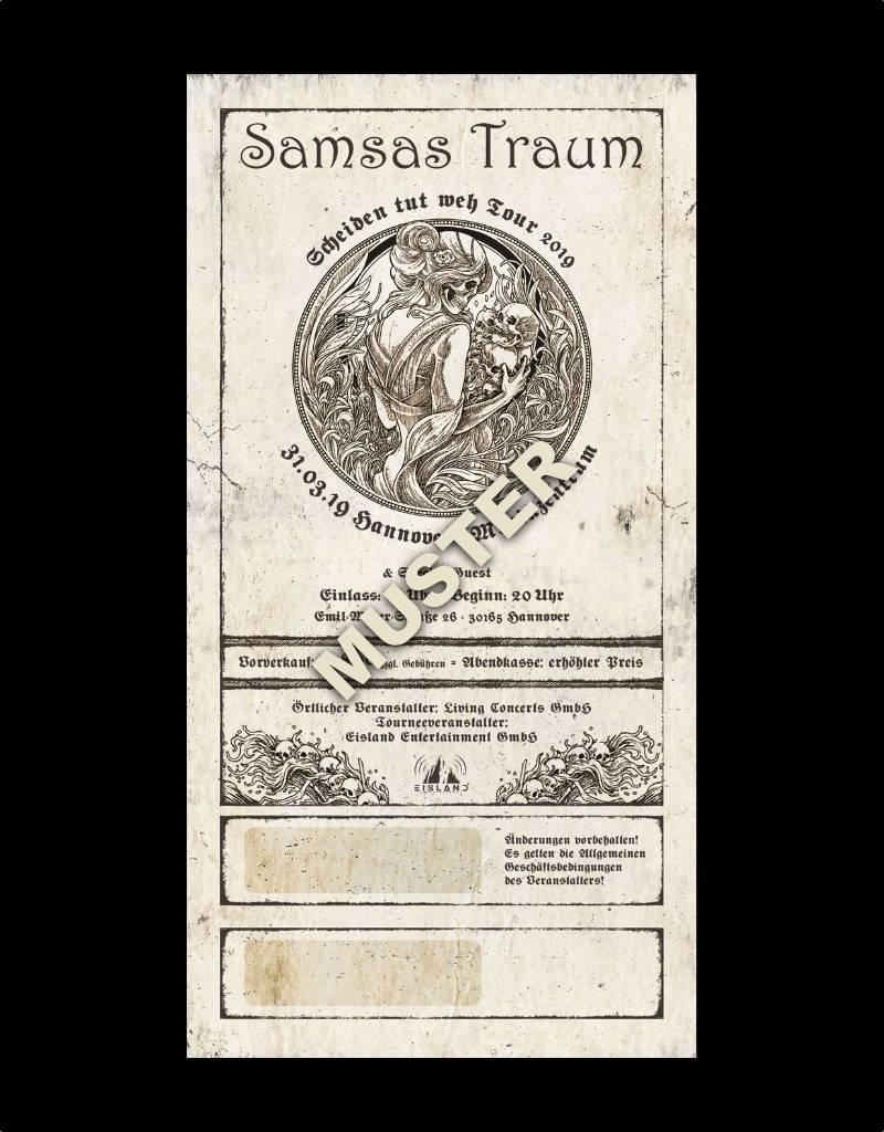 """HANNOVER - SAMSAS TRAUM """"SCHEIDEN TUT WEH TOUR 2019"""" * Agenturware"""