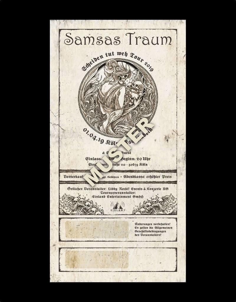 """COLOGNE - SAMSAS TRAUM """"SCHEIDEN TUT WEH TOUR 2019"""" * Agenturware"""