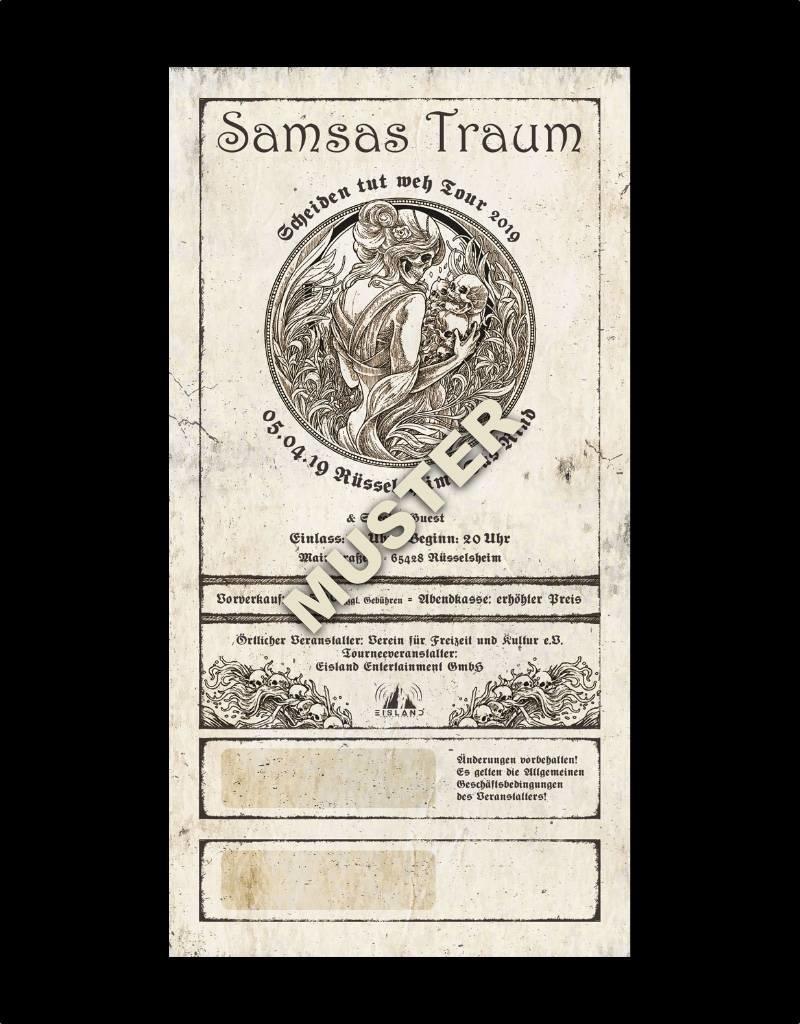 """RÜSSELSHEIM - SAMSAS TRAUM """"SCHEIDEN TUT WEH TOUR 2019"""" * Agenturware"""