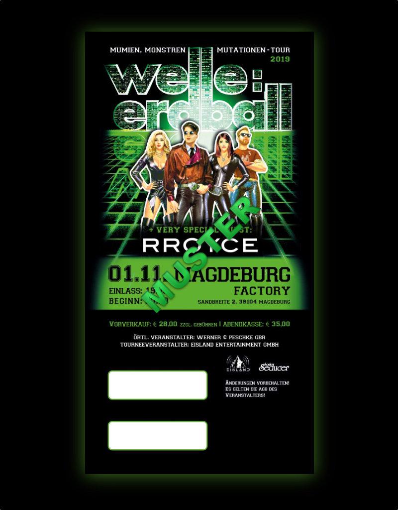 WELLE:ERDBALL TOUR 2019 - 01.11.2019 - MAGDEBURG *