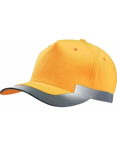 K-UP Fluorescerende Gele Cap in het Oranje met striping
