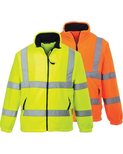 Portwest F300 Hi Vis Fleecejas in fluor oranje of geel