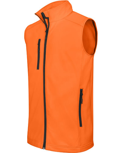 Heren Softshell bodywarmer in geel of oranje