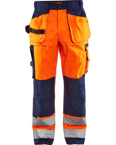 Blaklader Werkbroek High Visibility met losse spijkerzakken en kniestukken