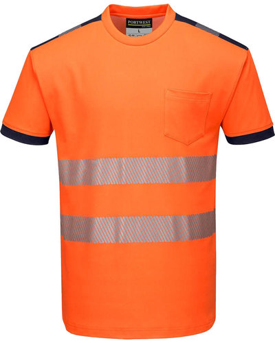 Portwest PW3 Hi-Vis Vision T-Shirt, Korte Mouw
