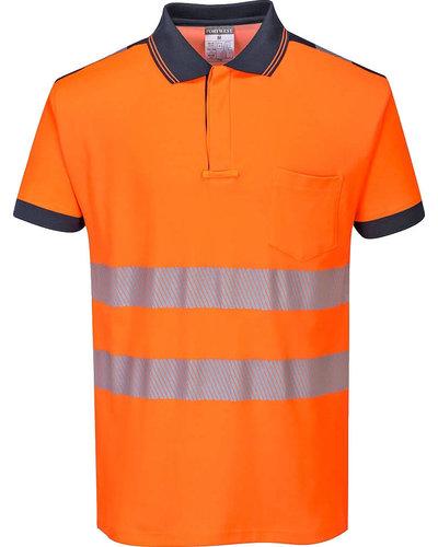 Portwest PW3 Hi-Vis Poloshirt, Korte Mouw