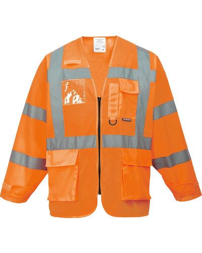 S475 Veiligheidsvest met mouwen in geel of oranje