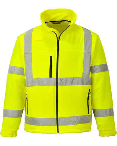 Portwest Hi Visibility Soft Shell Jas S424, oranje of geel