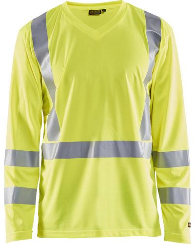 Blaklader Geel Hi-Vis T-shirt lange mouw UPF 50+