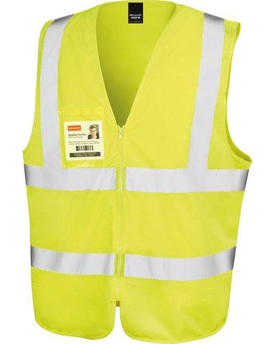 Result R202X Veiligheidsvest met rits oranje of geel