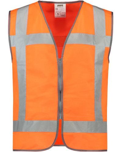 Tricorp Veiligheidsvest met rits V-RWS-ZIP in geel of oranje