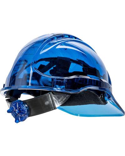 Portwest PV60 transparante helm met draaiknop en UV400 bescherming