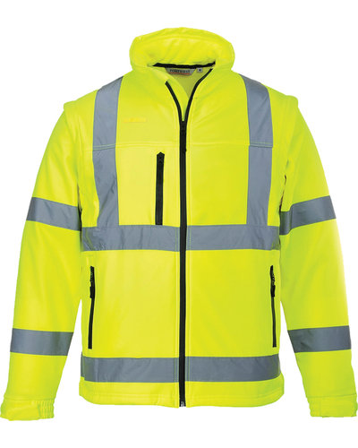 Portwest 2-in-1 Hi-Vis Soft shell Jas & Bodywarmer