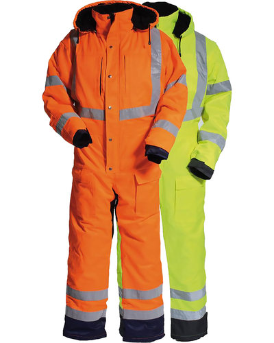 Tranemo High Visibility Winter overall met striping van Tranemo