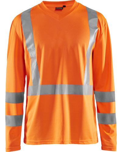 Blaklader Oranje Hi-Vis T-Shirt Lange mouw UPF 50+