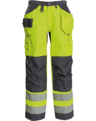 Tranemo High Visibility werkbroek met losse spijkerzakken en kniestukken van Tranemo