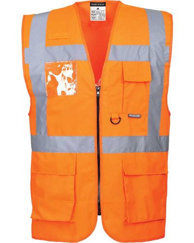 Portwest S476 Vest met zakken in geel of oranje