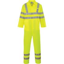 Portwest E042 Hi Vis Overall in fluor geel