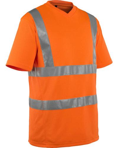 Mascot Oranje fluorescerende T-shirt V-Hals