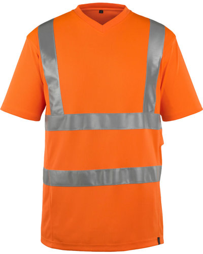 Mascot Oranje Fluorescerende T-shirt met V-hals