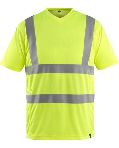 Mascot Gele Fluorescerende T-shirt met V-hals