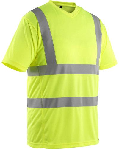 Mascot Gele Fluorescerende T-shirt V-Hals
