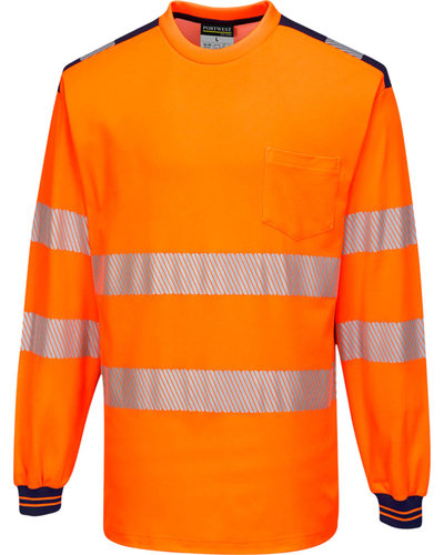 Portwest PW3 Hi-Vis Vision T-Shirt, Lange Mouw