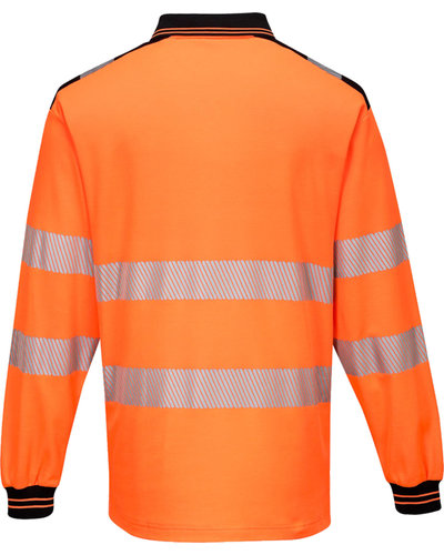 Portwest PW3 Hi-Vis Poloshirt, lange mouwen