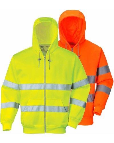 Portwest B305 Hi-Vis Hoody met Rits, geel of oranje