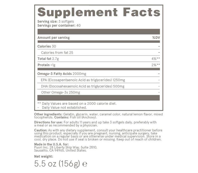 O3 - Ultra Pure Fischöl - 120 Kapseln