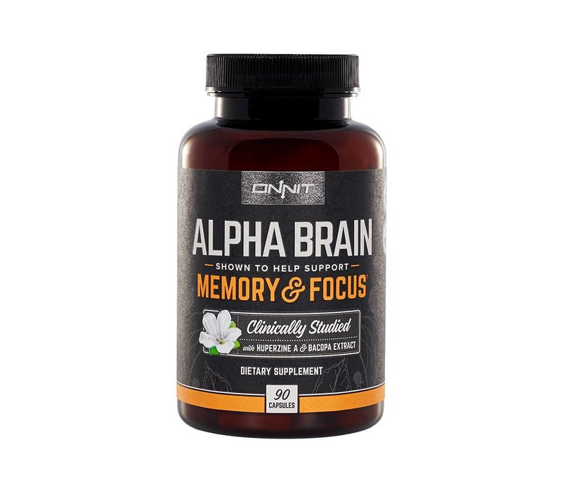4b190f99 Onnit™ Alpha Brain - 90 caps - NootroFit