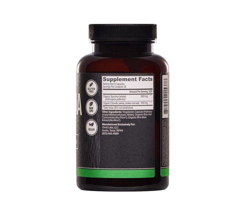 Spirulina en Chlorella - 80 tabletten