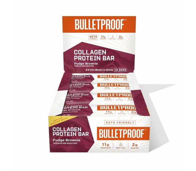 Bulletproof Fudge Brownie Collagen Protein Bar - 12 pack