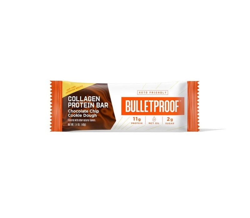 Chocolate Chip Cookie Dough Collagen Protein Bar - the bulletproof executive (12 pack)
