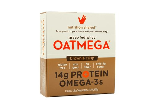 Oatmega Oatmega Brownie Crisp Protein Bar (box)